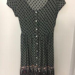Button Up Francesca's Dress with Fun Design